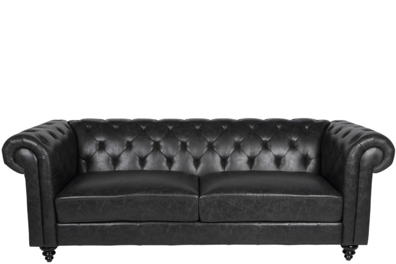 g nstige m bel online bestellen chesterfield sofa lederlook antik schwarz. Black Bedroom Furniture Sets. Home Design Ideas