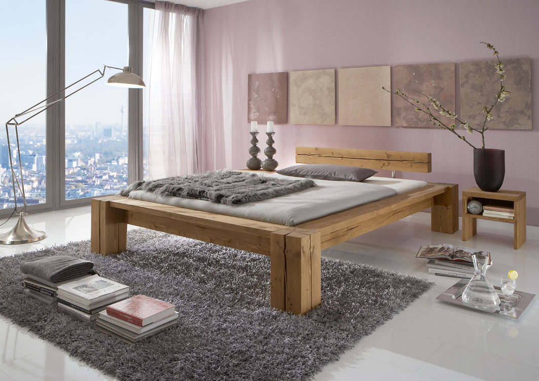 g nstige m bel online bestellen neu im sortiment balkenbett davos kiefer massiv gebeizt und. Black Bedroom Furniture Sets. Home Design Ideas