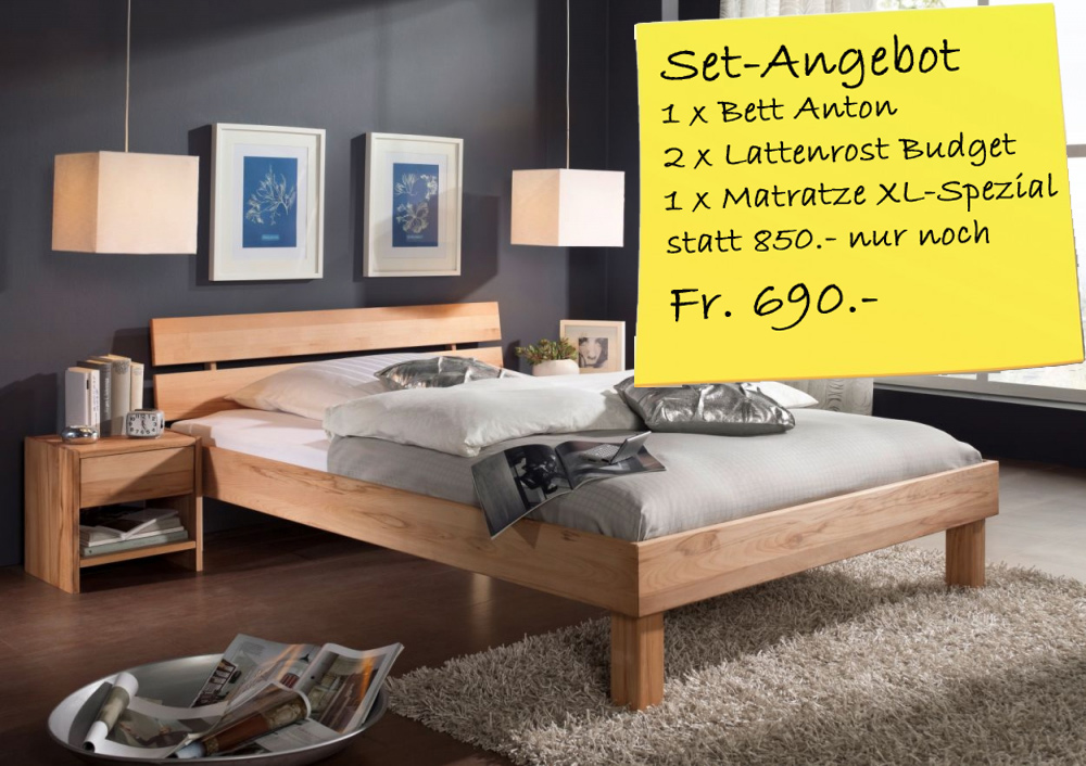 g nstige m bel online bestellen bett anton 160x200 cm. Black Bedroom Furniture Sets. Home Design Ideas