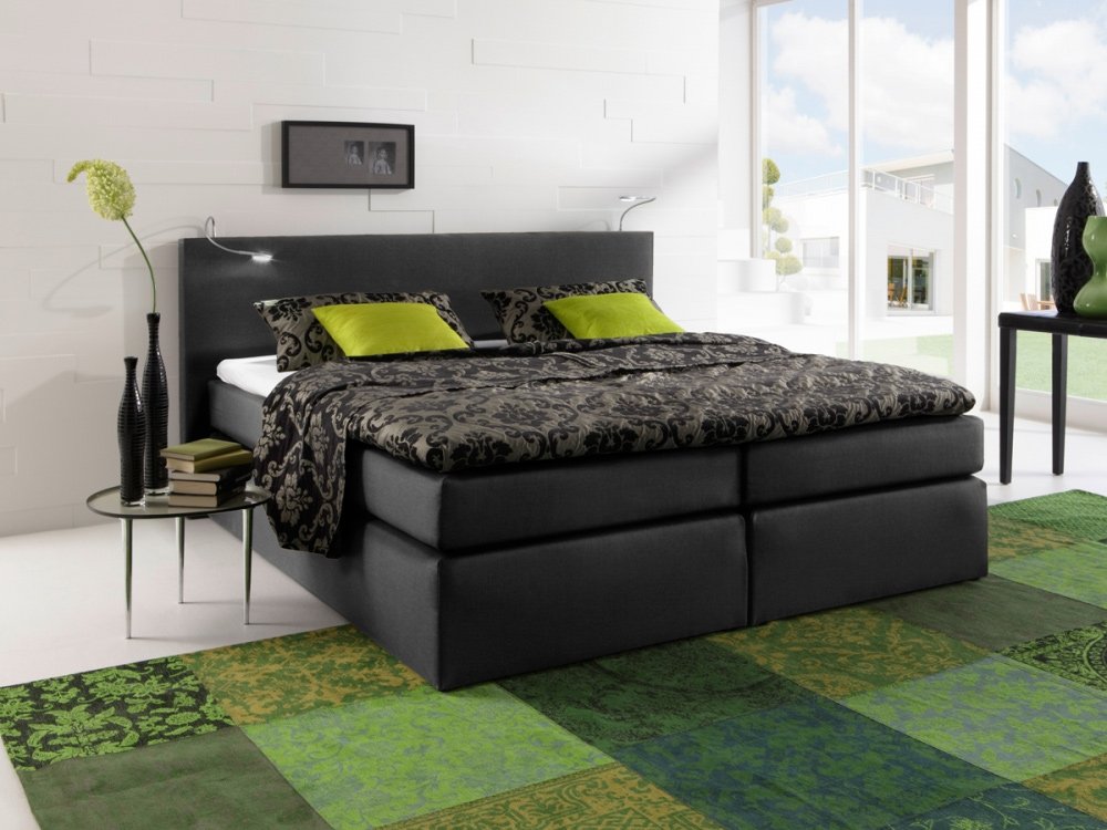 g nstige m bel online bestellen boxspringbett atlantis stoff schwarz bonellfederkern inkl topper. Black Bedroom Furniture Sets. Home Design Ideas