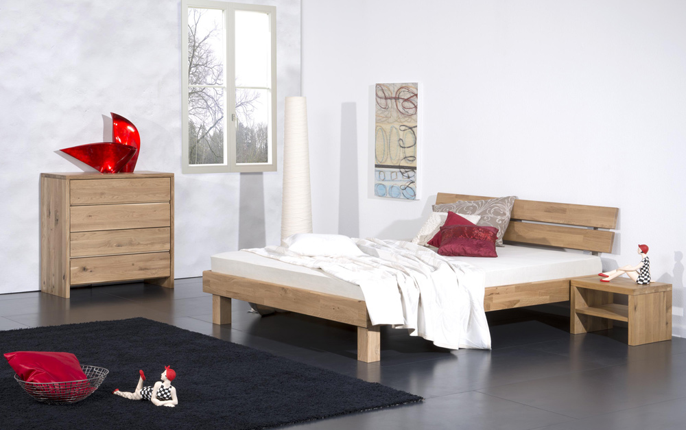 g nstige m bel online bestellen mondovi bett inkl kopfteil eiche massiv ge lt modular bett. Black Bedroom Furniture Sets. Home Design Ideas