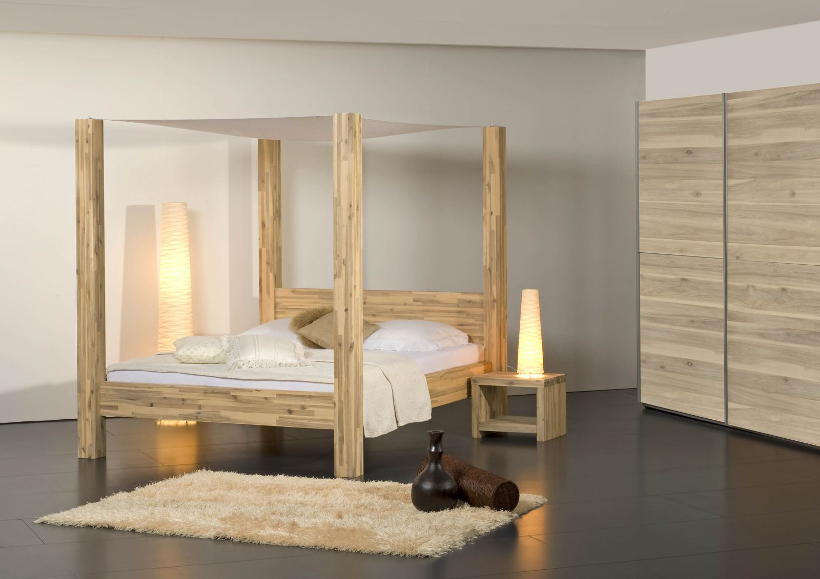 g nstige m bel online bestellen bett santa marta akazie. Black Bedroom Furniture Sets. Home Design Ideas