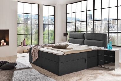 g nstige m bel online bestellen boxspringbett funktionsbett stoff graphit 160x200 cm oder. Black Bedroom Furniture Sets. Home Design Ideas