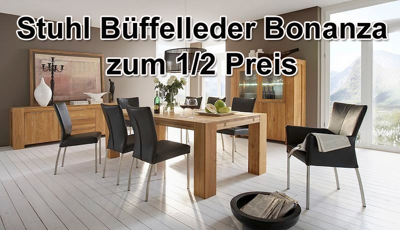 g nstige m bel online bestellen b ffelleder stuhl roma bonanza zum 1 2 preis. Black Bedroom Furniture Sets. Home Design Ideas